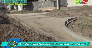 La Municipalidad realizó cordón cuneta y badenes en el barrio de la Cooperativa
