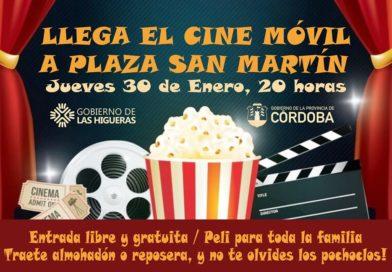Llega a Las Higueras el Cine Móvil del Gobierno de la Provincia de Córdoba