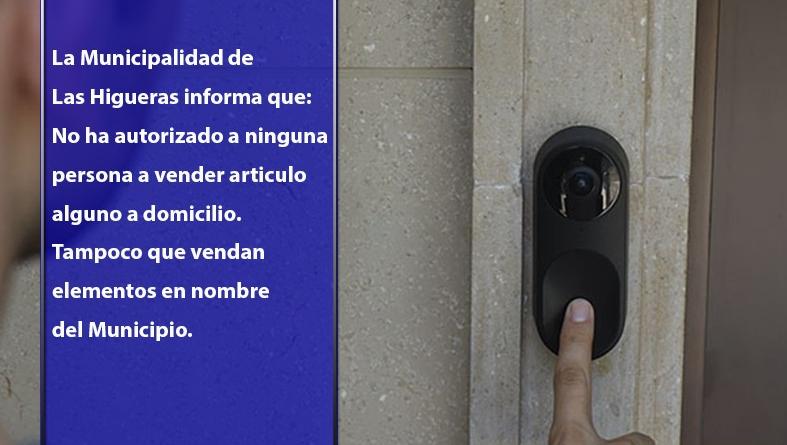 Comunicado de la Municipalidad respecto a la venta ambulante ilegal en Las Higueras