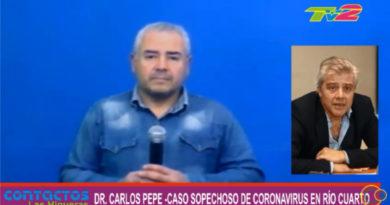 El director del COE Río Cuarto, Dr. Carlos Pepe, aclaró que el caso covid-19 dio negativo