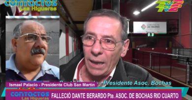 Falleció Dante Berardo, presidente de la Asociación de Bochas de Río Cuarto