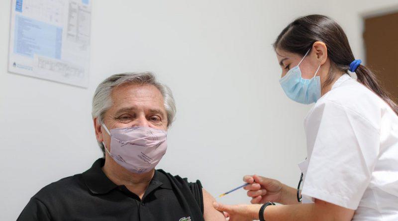 Covid-19: Alberto Fernández recibió la primera dosis de la vacuna Sputnik V