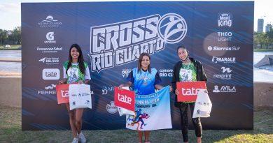 Representante de Las Higueras en el podio del Cross Río Cuarto 2021
