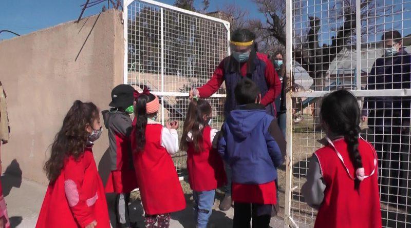 El Jardín de Infantes Jorge Newbery volvió este lunes a las clases presenciales
